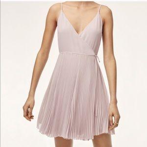 Aritzia Wilfred Beaune Wrap Mini Dress